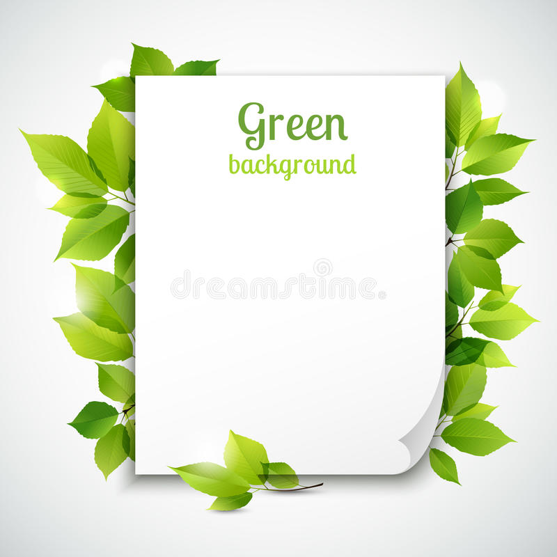 绿色留下框架模板 皇族释放例证