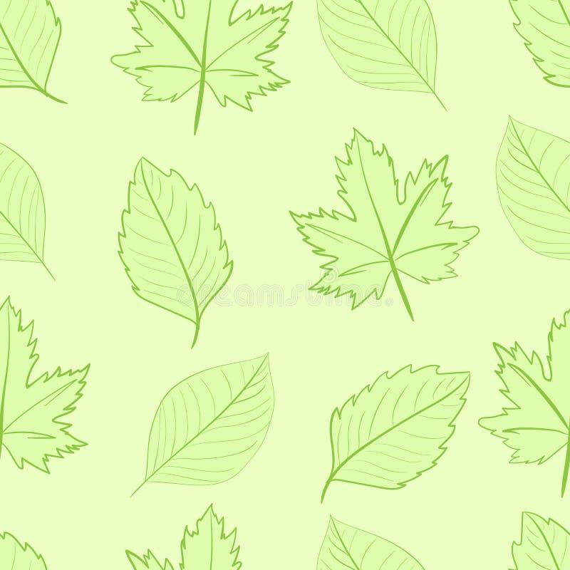 绿色留给无缝 向量例证