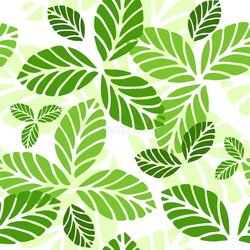 绿色留给模式无缝 库存例证