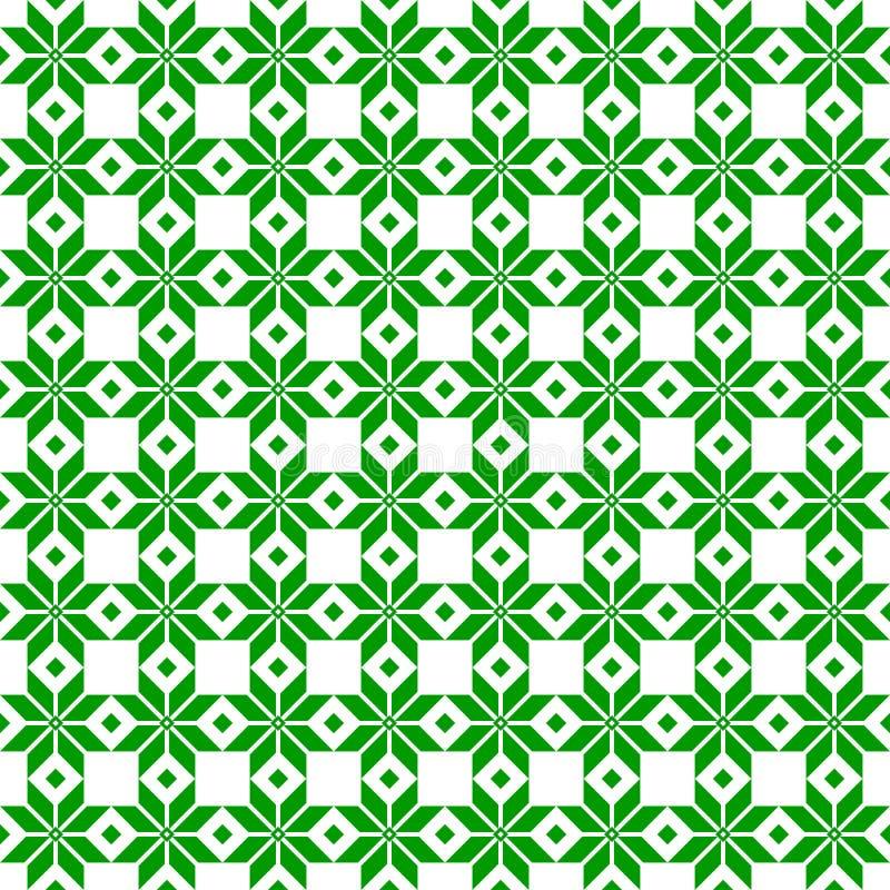 绿色白俄罗斯人神圣的种族装饰品,无缝的样式 也corel凹道例证向量 斯洛文尼亚传统样式装饰品 免版税库存照片
