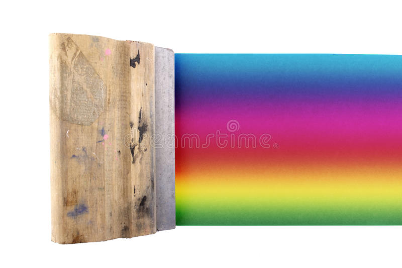 色的丝屏罩 库存图片