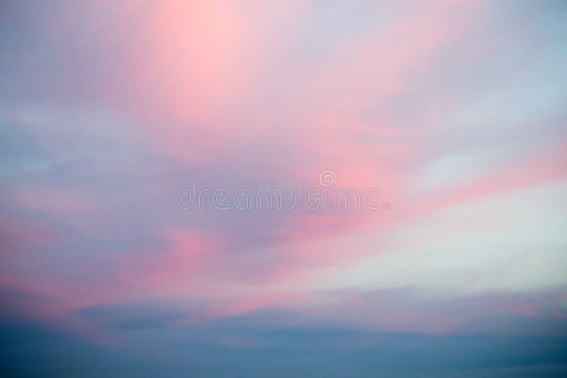 色的云彩纹理 库存照片