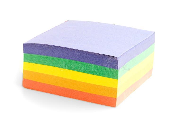 色的企业贴纸 库存照片