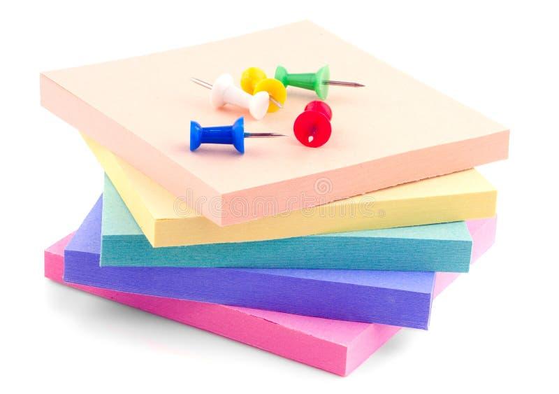 色的企业贴纸 免版税库存图片