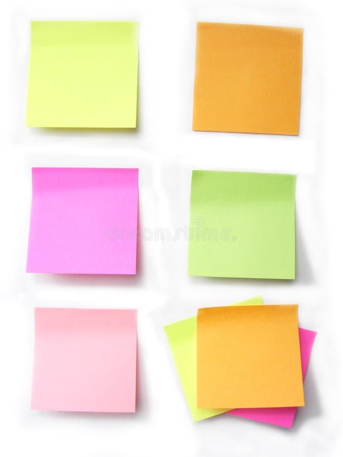 色的便条纸 库存照片
