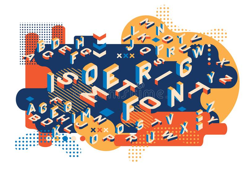 色的信件孟菲斯样式 被设置的等量信件 创造性的趋向信件以等量形式 ector例证10 皇族释放例证