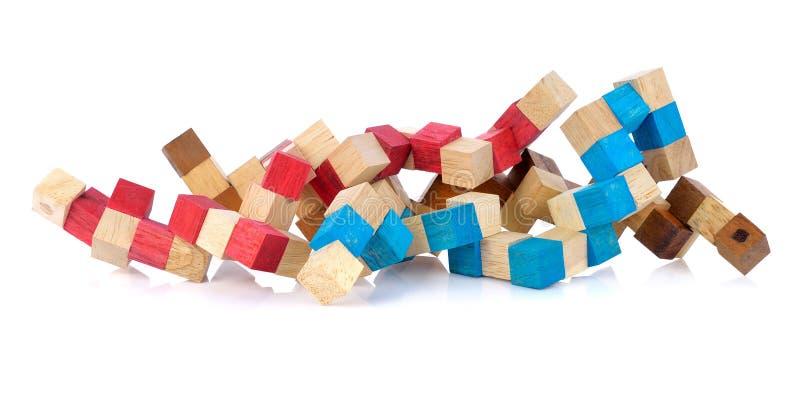 色的儿童立方体 库存照片