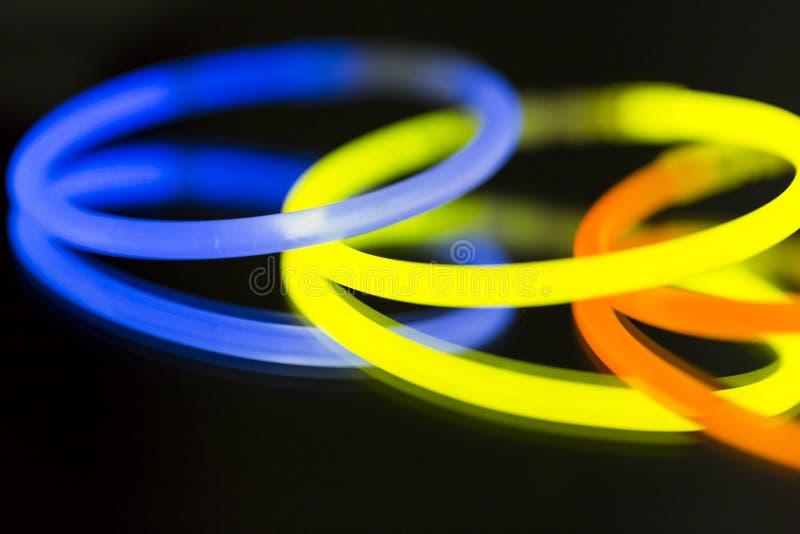 色的光萤光氖 库存照片