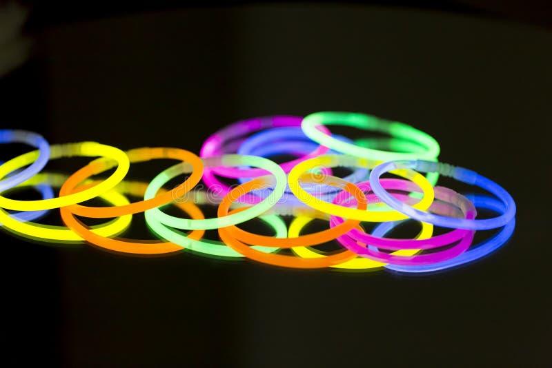 色的光萤光氖 库存图片