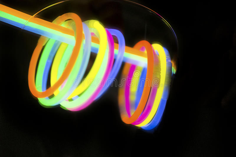 色的光萤光氖 免版税库存照片