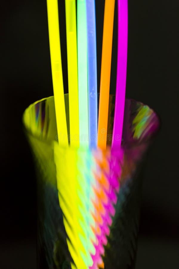 色的光萤光氖 免版税库存图片