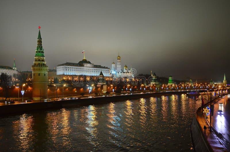 色的克里姆林宫在莫斯科,俄罗斯 库存图片