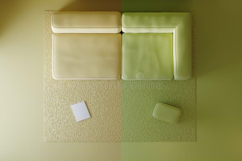 色的内部项目的构成在演播室 库存例证