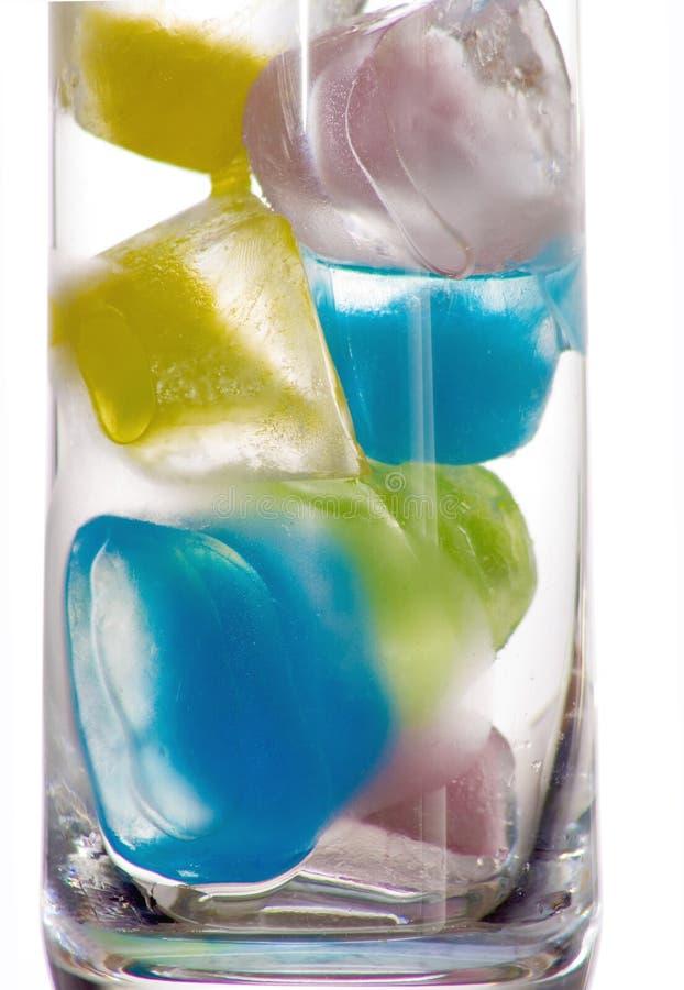 色的冰 免版税库存图片