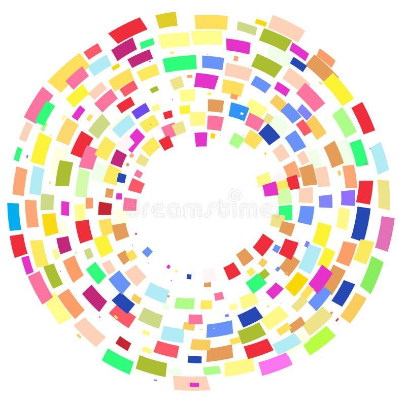色的几何形状回合  皇族释放例证