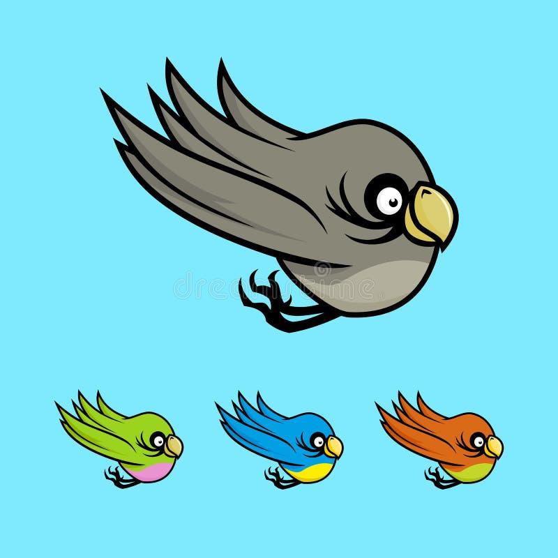 色的动画片鸟 皇族释放例证