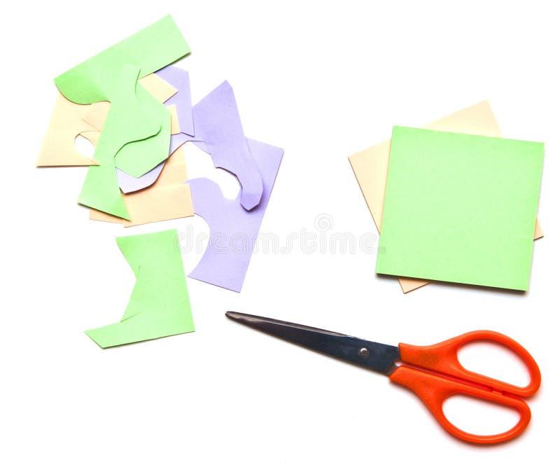 色的可折叠叶子剪 免版税图库摄影