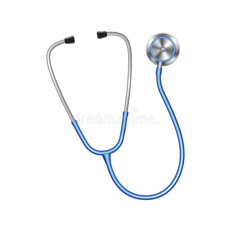 色的听诊器象,医疗设备传染媒介例证 向量例证