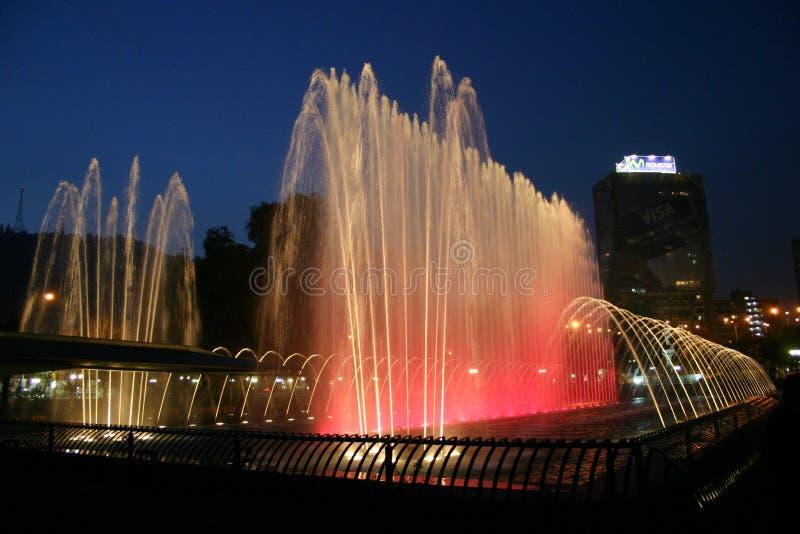 色的喷泉 库存照片
