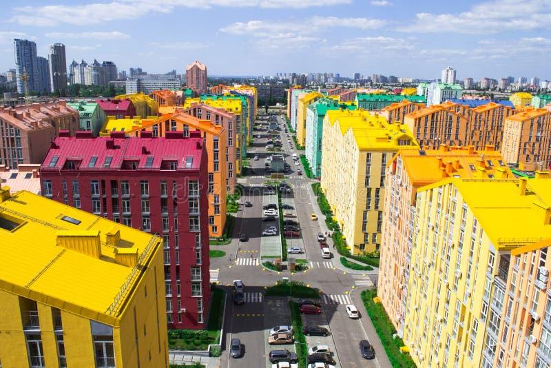 Download 色的城市街道全景鸟瞰图 库存图片. 图片 包括有 房子, 生活, 普罗旺斯, 光华, 概念性, 明信片, 幻想 - 72366415