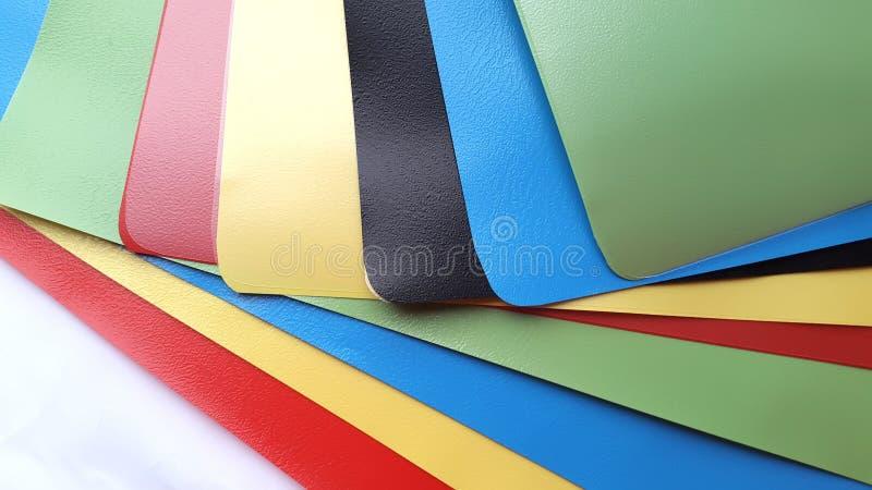 色的塑料几何板料  免版税库存图片