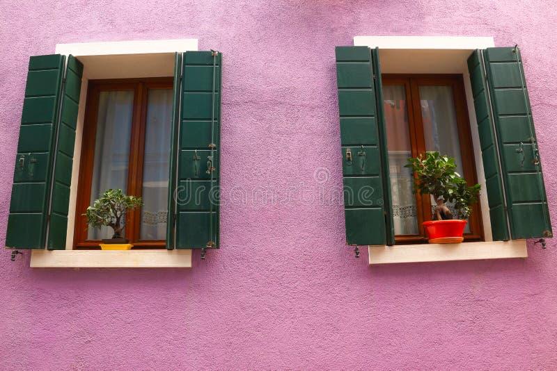 紫色的墙壁 图库摄影