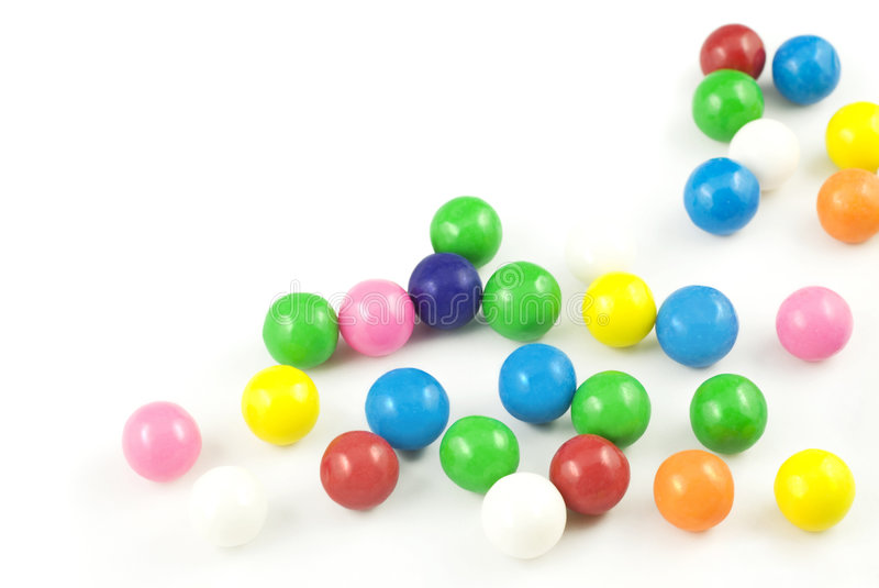色的复制gumballs空间 免版税库存照片