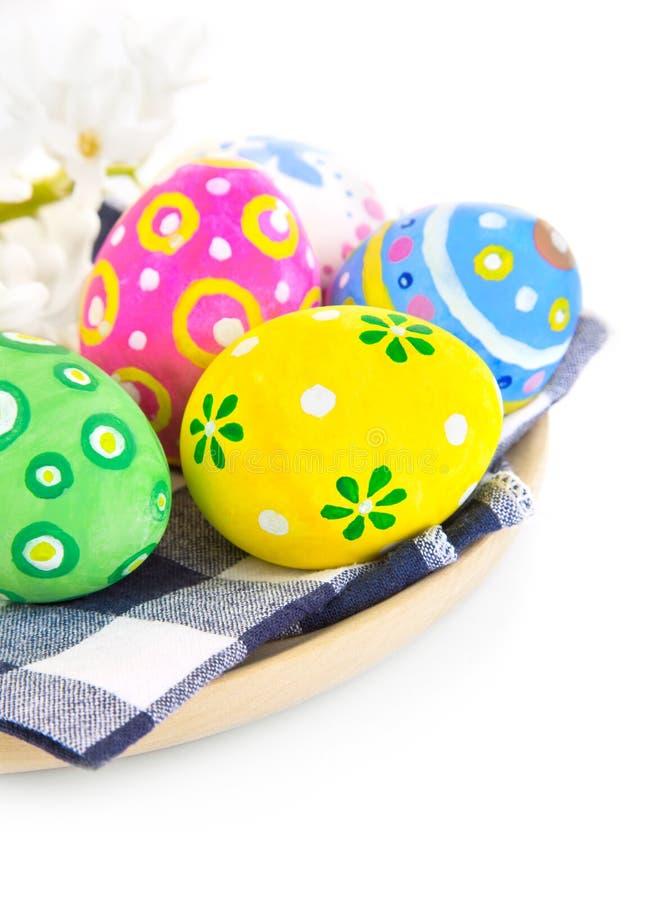 色的复活节彩蛋牌照 免版税库存图片