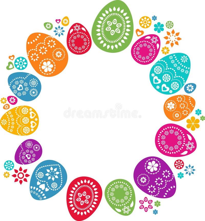 色的复活节彩蛋 向量例证
