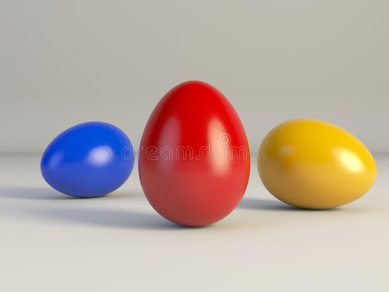 色的复活节彩蛋 图库摄影