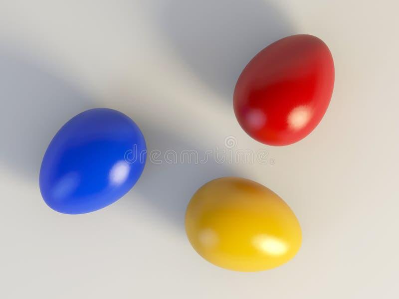 色的复活节彩蛋 免版税库存照片
