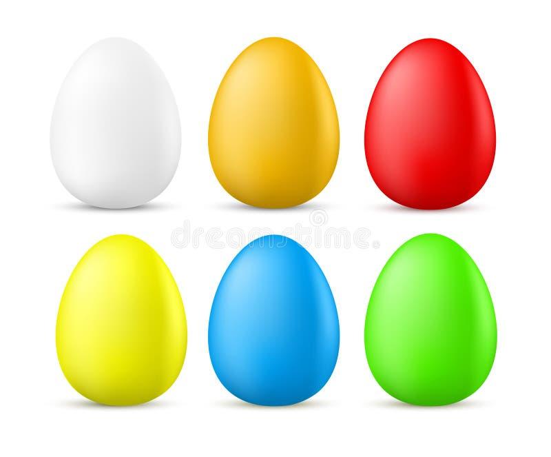 色的复活节彩蛋 皇族释放例证