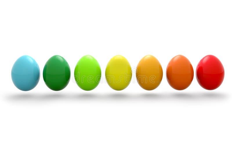 色的复活节彩蛋 库存例证