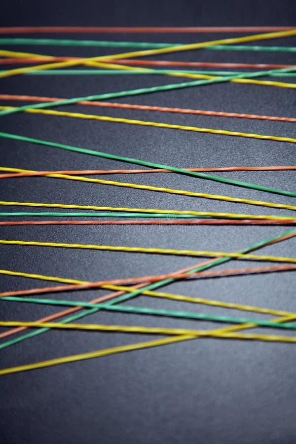 色的多rubberbands 图库摄影