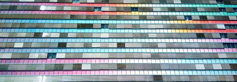 色的大厦 免版税库存图片