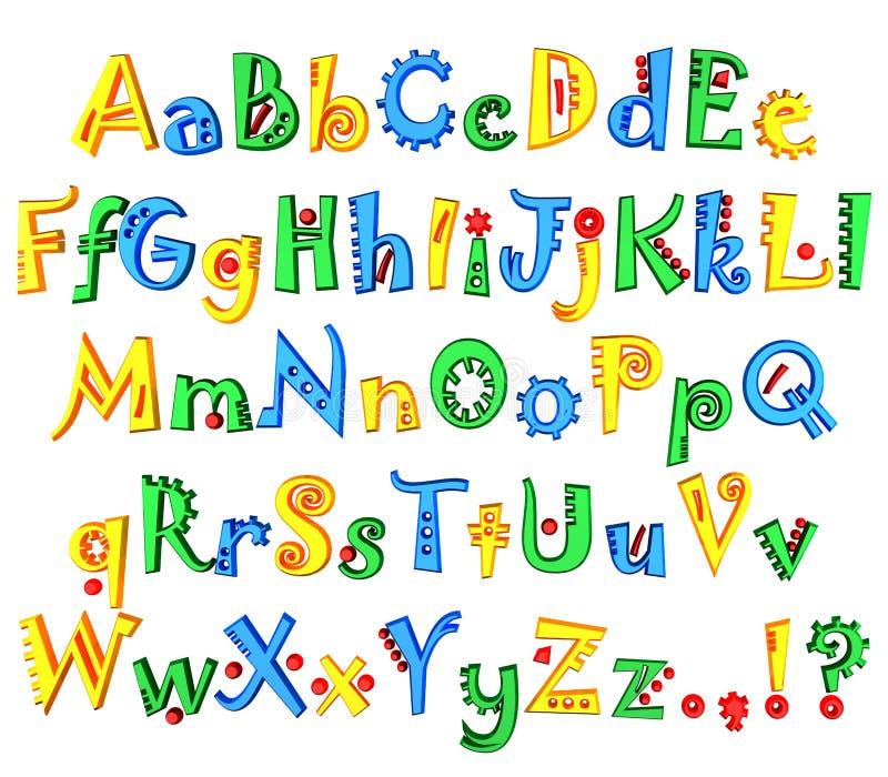 色的字母表 皇族释放例证