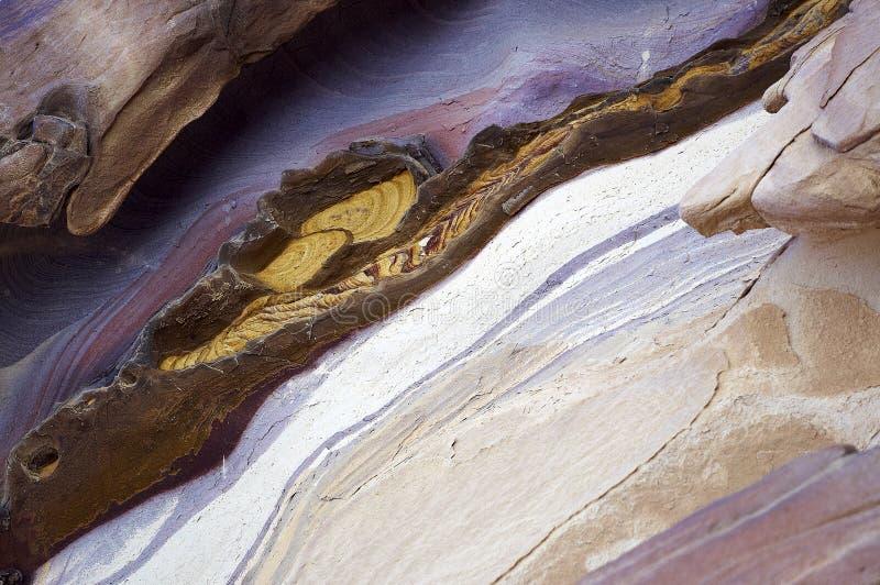 色的形成石头 免版税图库摄影