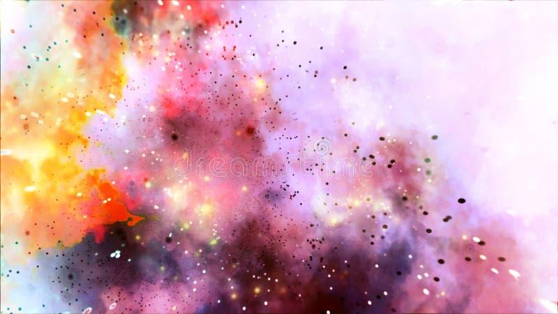 色的彩虹星系爆炸Strars摘要背景 库存图片