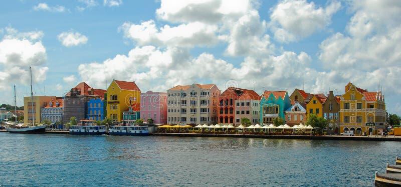色的房子库拉索岛 免版税库存图片