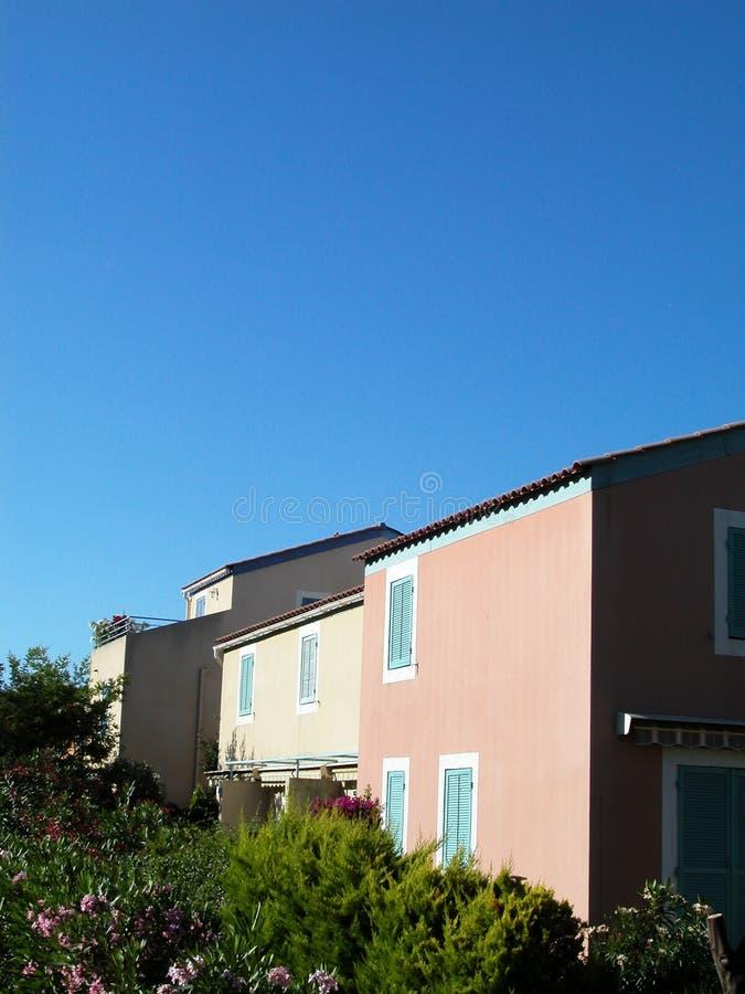 色的房子 免版税库存图片