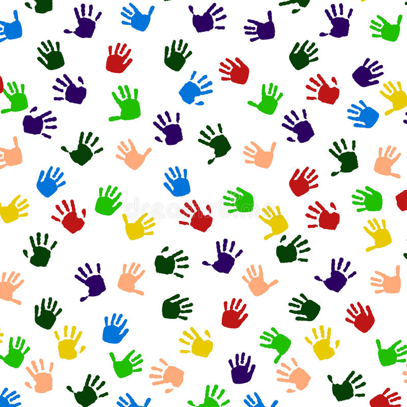 色的手印刷品象。 向量例证