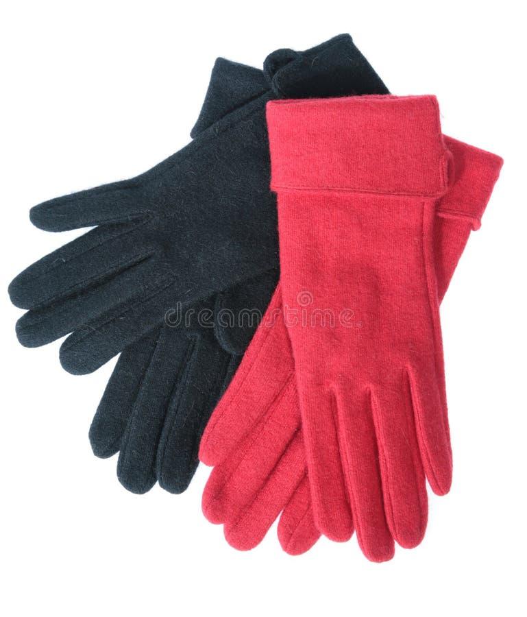 色的手套多羊毛 库存照片