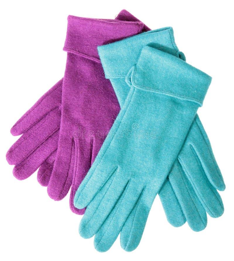 色的手套多羊毛 图库摄影