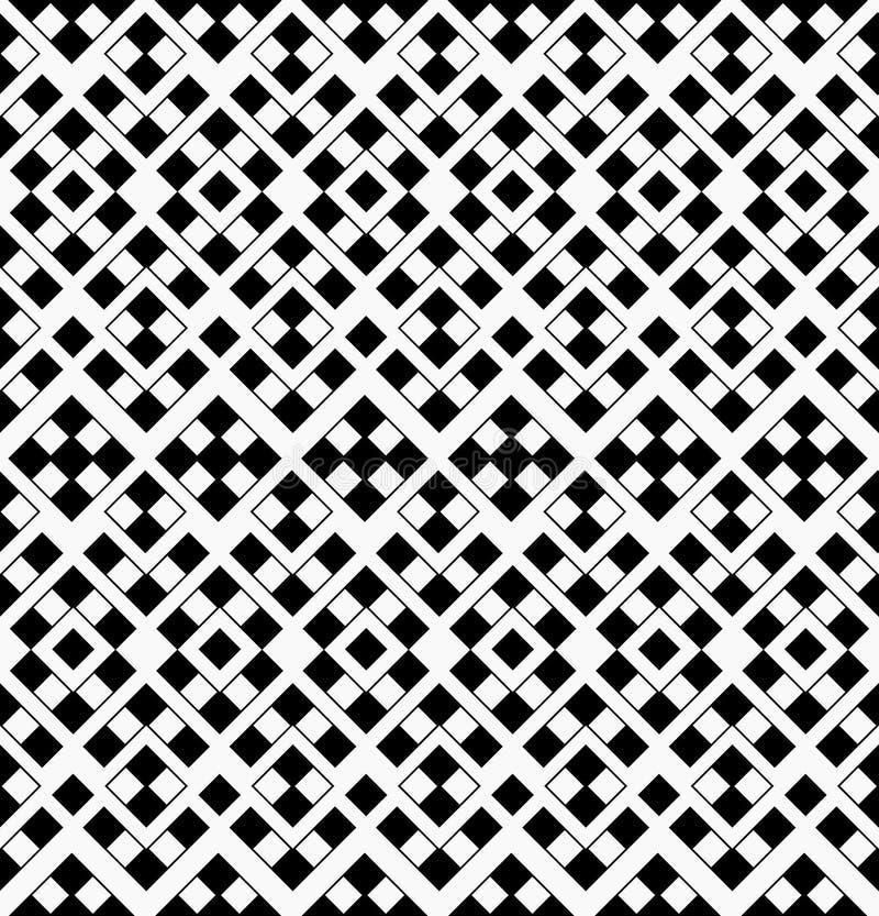 从黑色的抽象几何无缝的样式和 库存例证