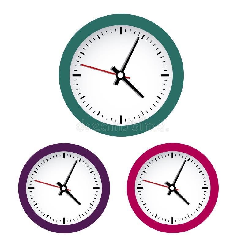 色的时钟 库存图片