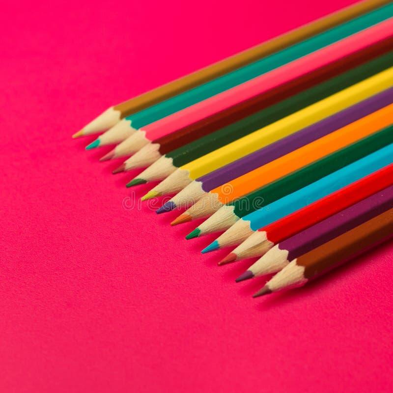 色的木铅笔 库存图片