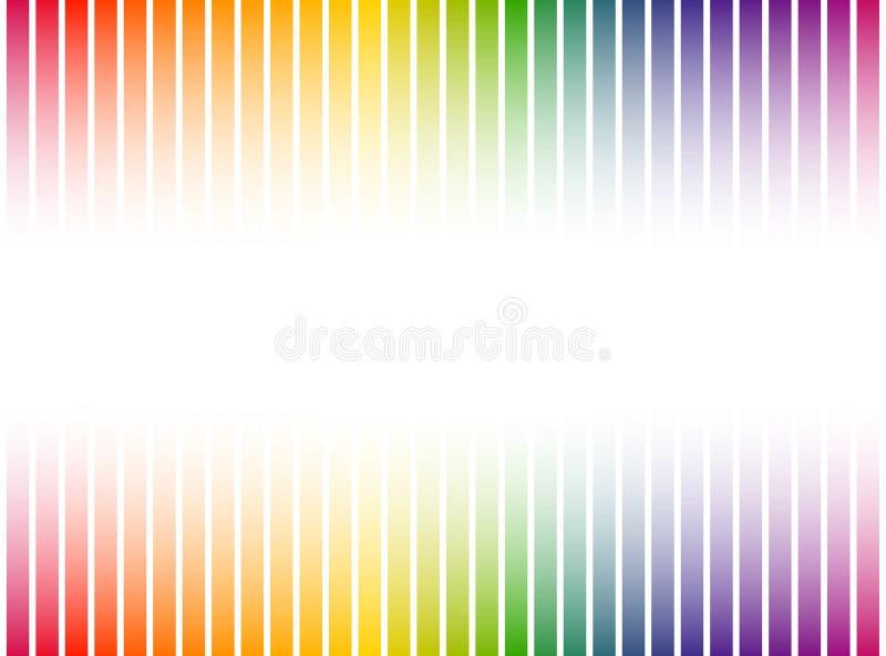 色的条纹背景 库存例证