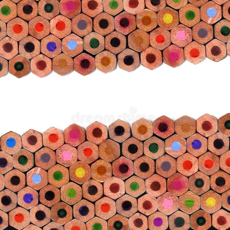 色的构成铅笔 库存图片