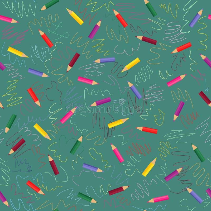 色的模式铅笔 库存例证