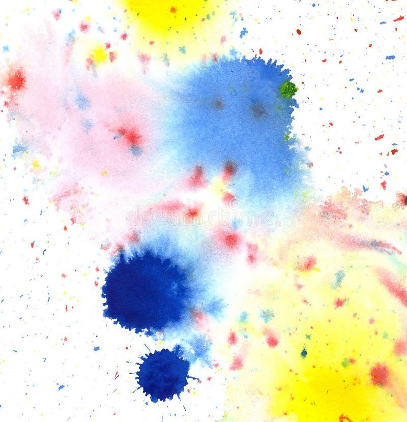 色的油漆泼溅物 向量例证